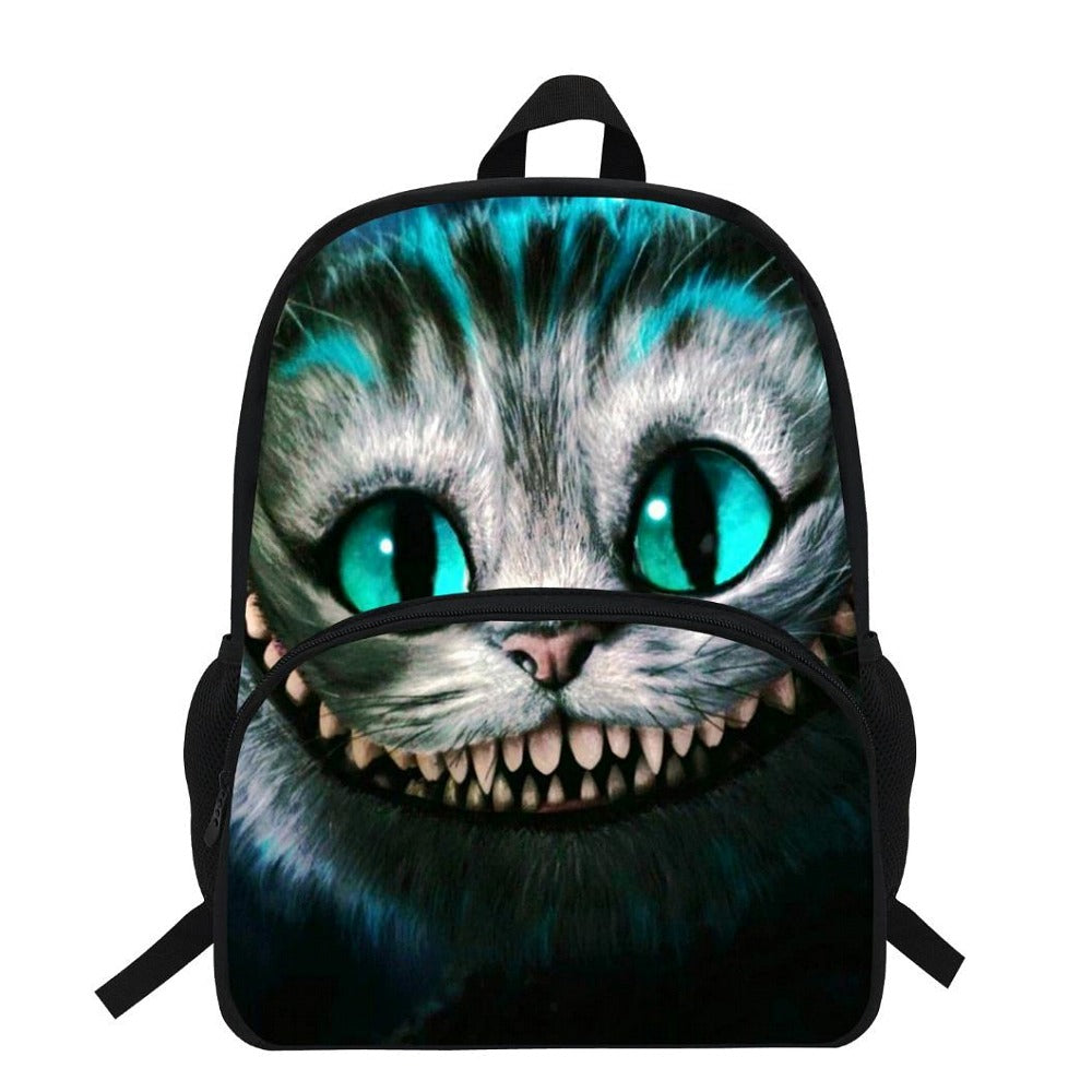 Smiling Cheshire Cat Backpack