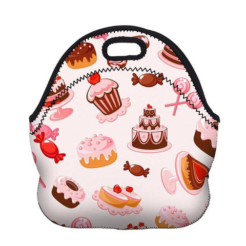 Insulated Neoprene Treat Pattern Lunch Bag