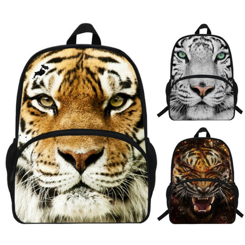 Photographic Tiger Print Backpack