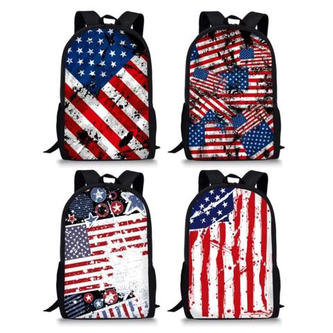 "Artistic USA Flag Print Backpack (17"")"