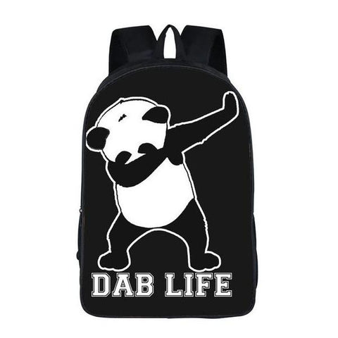 White Dabbing Panda Backpack