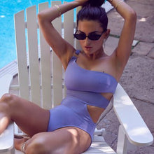 Load image into Gallery viewer, SAMAR SWIMSUIT DEEP LILAC
