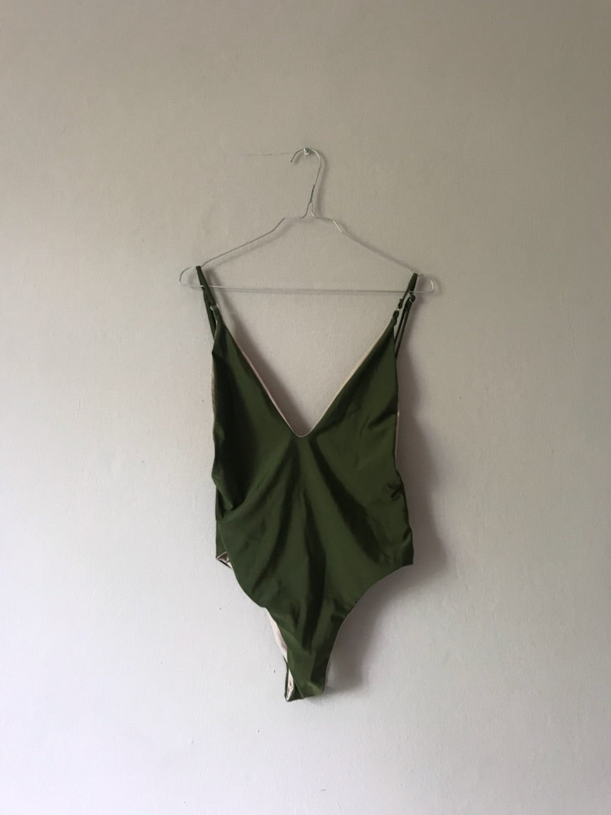 Olive green swimsuit