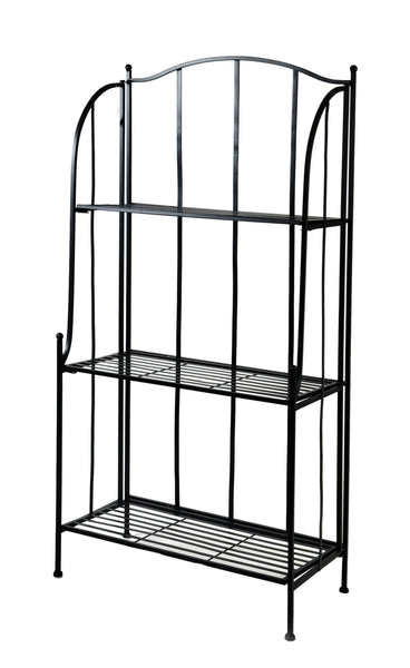 Iron Etagere 3 layer M.Black L60W30H125