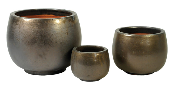 Glazed Pot Bowl Bronze S3 D27/53H18/38