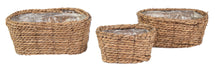 Around Oval Basket Natural S3 L21/30W11/20H11/13