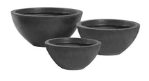 Clayfibre Bowl Low anthra S3 D28/45H11.5/20