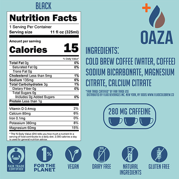 Oaza Electrolyte Cold Brew - Black 6-Pack