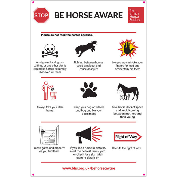 Stop! Be Horse Aware Yard Sign