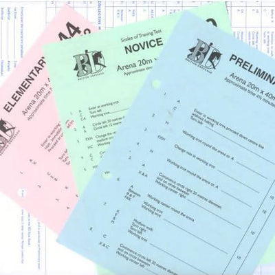 Judging Score Sheets Novice - Pack of 10