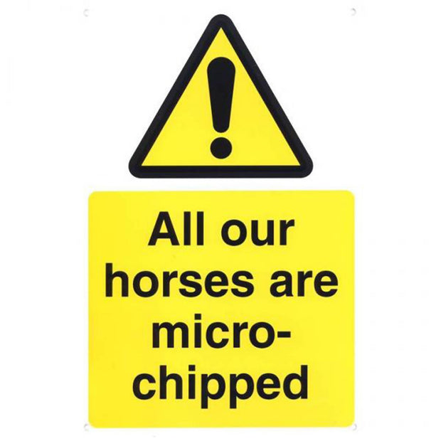 Microchipping Yard Sign
