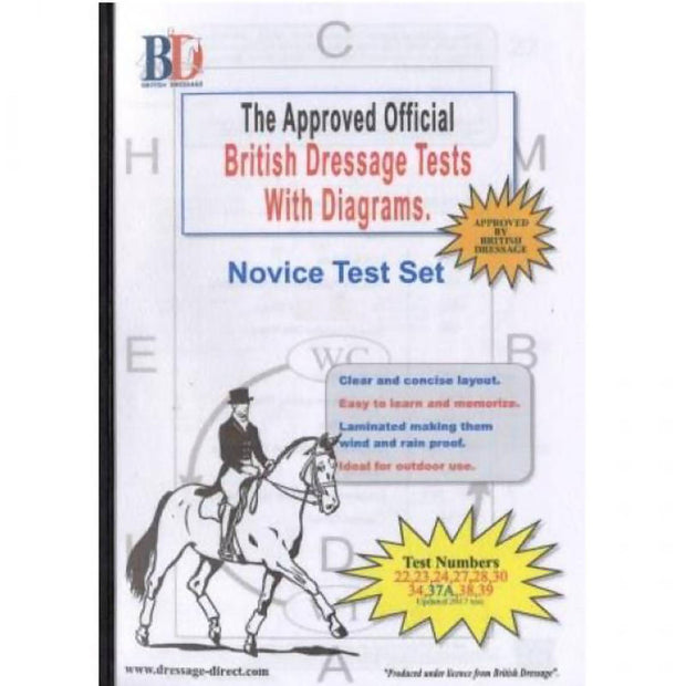 British Dressage Laminated Test Plans - Novice