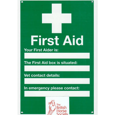 First Aid Yard Sign
