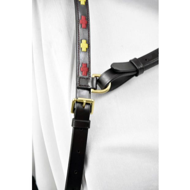 Polo Black Burgundy/Gold Click & Connect Neck Strap Ultimate Set