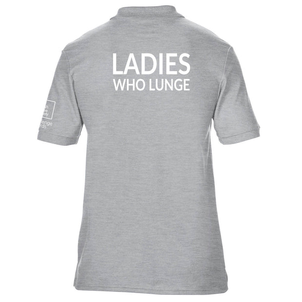 Ladies Who Lunge Fitted Polo Shirt
