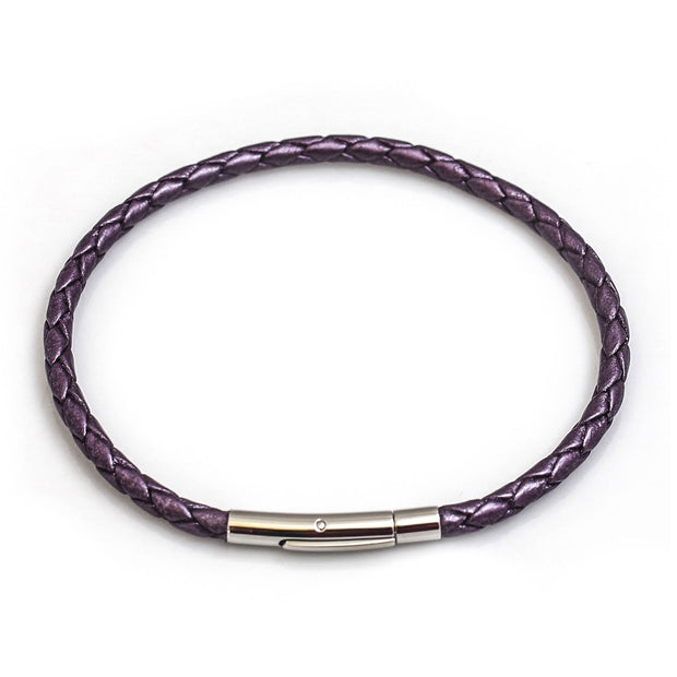 Single Fox Plait Leather Bracelet