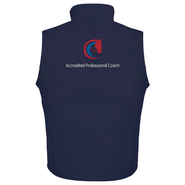 Accredited Professional Coach Unisex Softshell Gilet