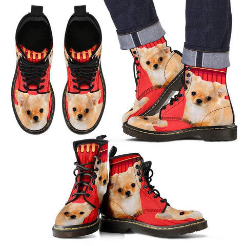 Chihuahua Print Boots For Men-Express Shipping