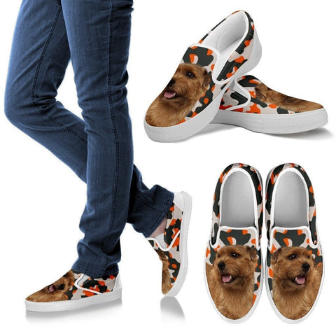 Norfolk Terrier Dog Print Slip Ons For Women-Express Shipping