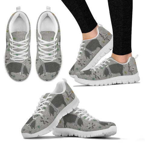 British Saddleback Pig Print Christmas Running Shoes For Women-Free Shipping