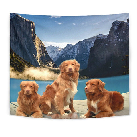 Nova Scotia Duck Tolling Retriever Print Tapestry-Free Shipping