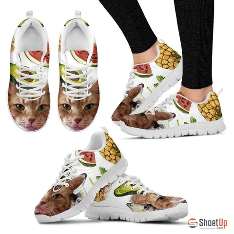 Susan Elizabeth 'Smiley Cat' Running Shoes For Women-3D Print-Free Shipping