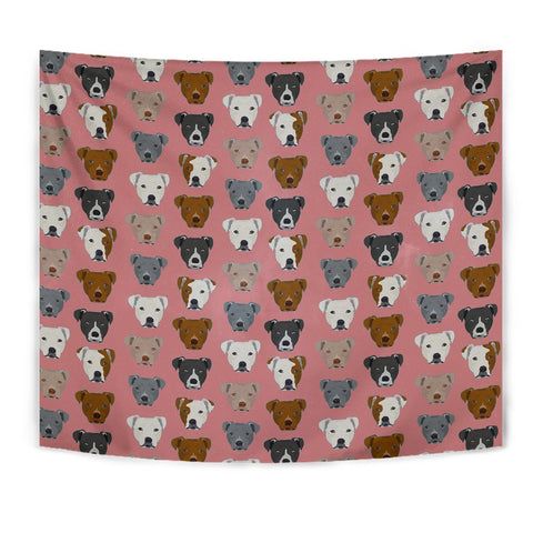 Pit Bull Dog Pattern Print Tapestry-Free Shipping