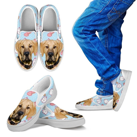 Broholmer Dog Print Slip Ons For Kids-Express Shipping