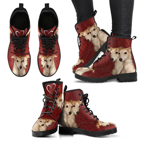 Valentine's Day Special-Whippet Dog Print Boots For Women-Free Shipping