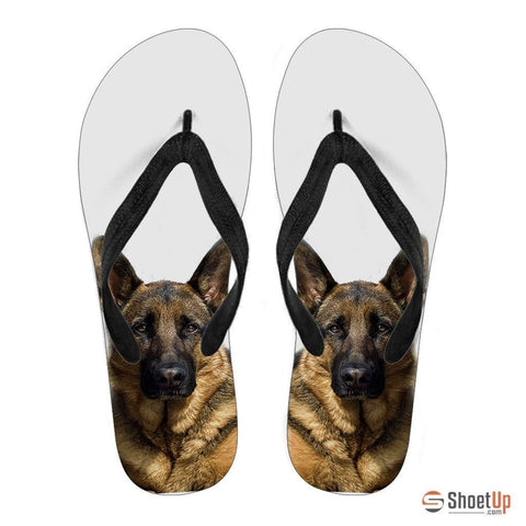 German Shepherd Print Flip Flops For Men-Free Shipping Limited Edition