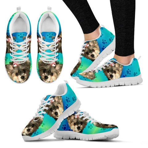 Customized Dog Print Running Shoes For Women-Free Shipping-Designed By Sandra Rex