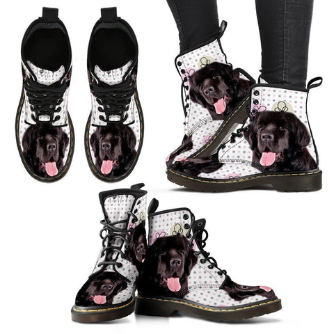 Newfoundland Print Boots For Women-Express Shipping