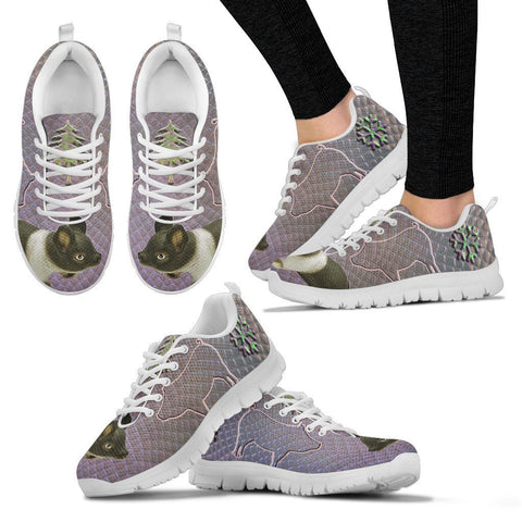 Hampshire pig Print Christmas Running Shoes For Women-Free Shipping
