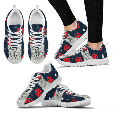 Tonkinese Cat Print Christmas Running Shoes For Women-Free Shipping