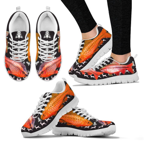 Cherry Barb Fish Print Christmas Running Shoes For Women- Free Shipping