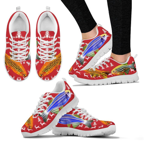 Slender Danios Fish Print Christmas Running Shoes For Women- Free Shipping