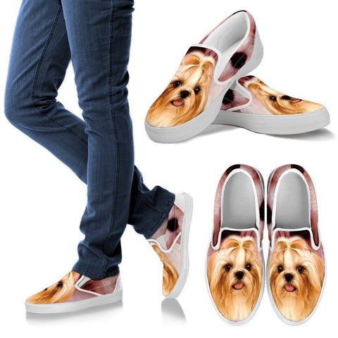 Lhasa Apso Print Slip Ons For Women- Express Shipping