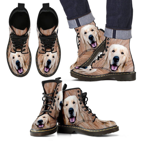 Golden Retriever Print Boots For Men-Limited Edition-Express Shipping