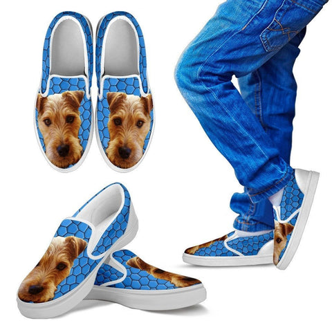 Lakeland Terrier Dog Print Slip Ons For Kids-Express Shipping