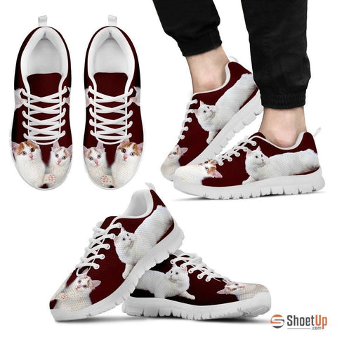 Cute Turkish Van Cat Print Sneakers For Men(White)- Free Shipping