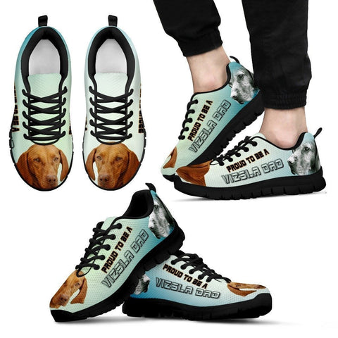 Proud To Be A Vizsla Dad Sneakers For Men- Father's Day Special