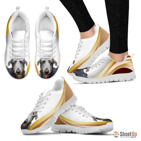 Customized Amazing Dog Print (White/Black) Running Shoes For Women-Free Shipping-Designed By Raffaella Belletti(2032)
