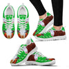 Hereford Cattle Cow Christmas Running Shoes For Women- Free Shipping