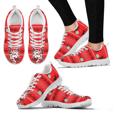 German Shepherd Christmas Running Shoes For Women- Free Shipping