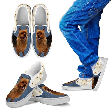 Australian Terrier Print Slip Ons For Kids-Express Shipping