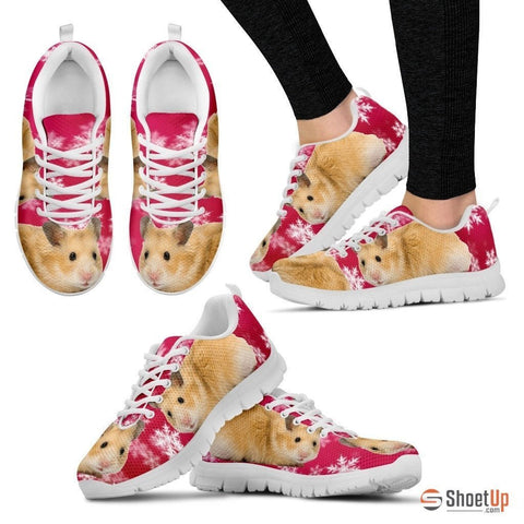 Syrian Hamster Print (Black/White) Running Shoes For Women-Free Shipping