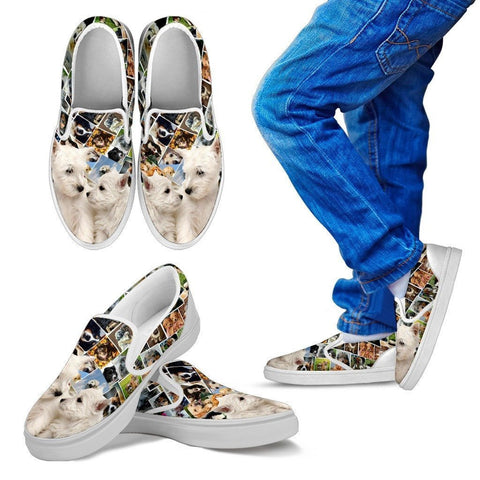 Amazing West Highland White Terrier (Westie) Print Slip Ons For Kids-Express Shipping