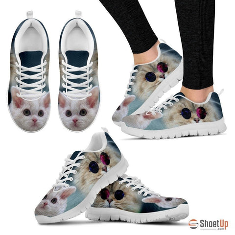 Cute Selkirk Rex Cat Print Running Shoe For Women- Free Shipping