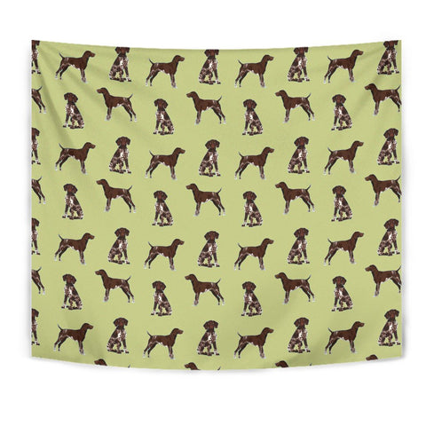 German Shorthaired Pointer Dog Pattern Print Tapestry-Free Shipping