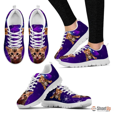 Lovely Bengal Cat Print Running Shoe For Women- Free Shipping
